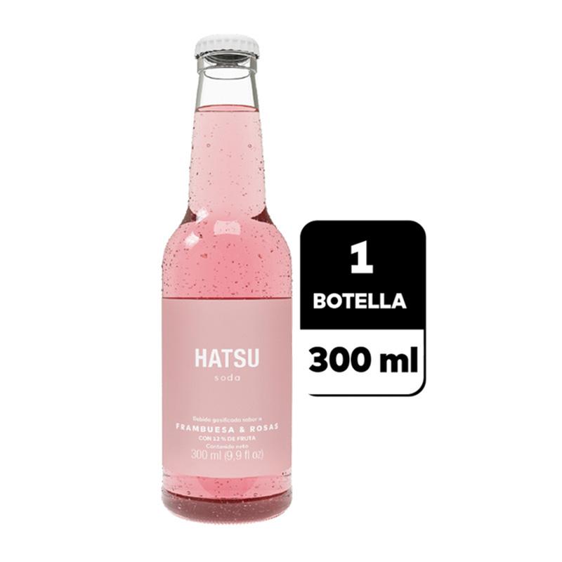 HATSU SODA FRAMBUESA ROSAS X 300ML