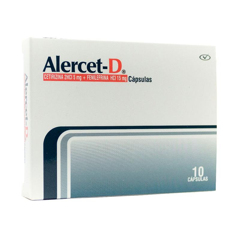 ALERCET-D 15MG X 10CAP.PC