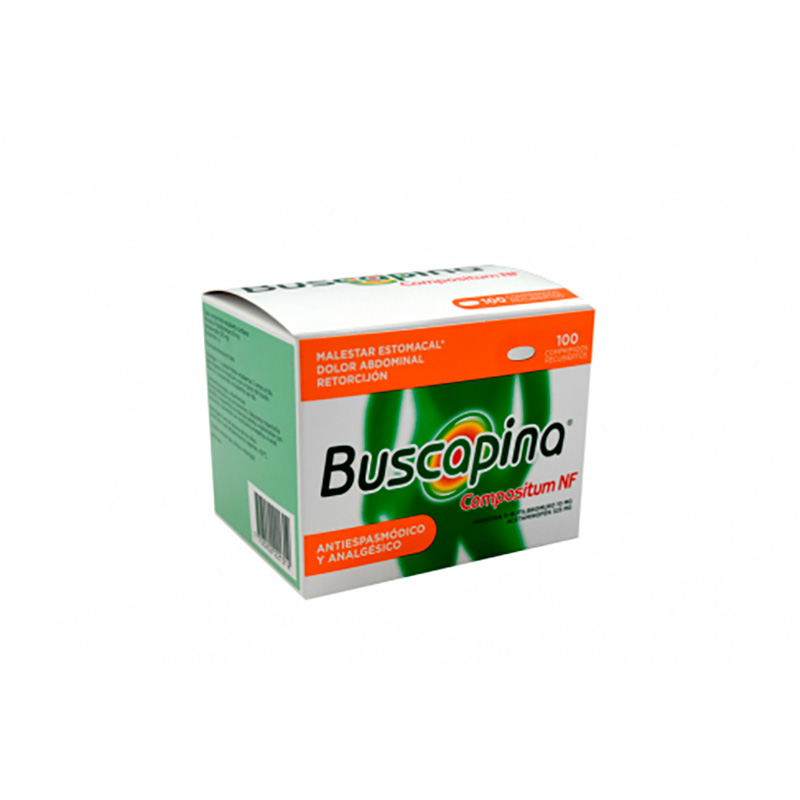 BUSCAPINA NF COMPOSITUM 325/10MG X 100TAB