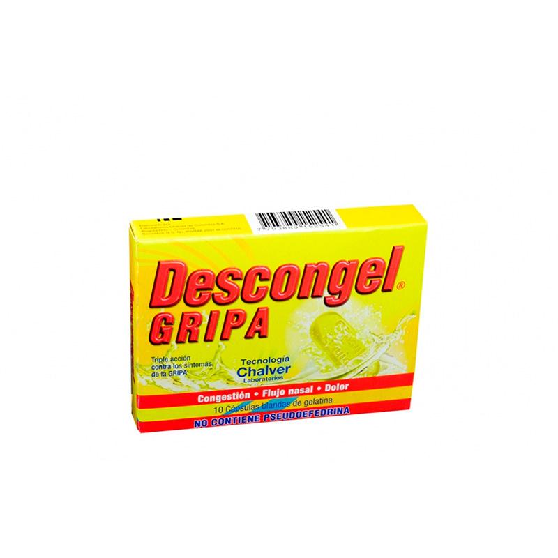 DESCONGEL GRIPA X 10CAP CH