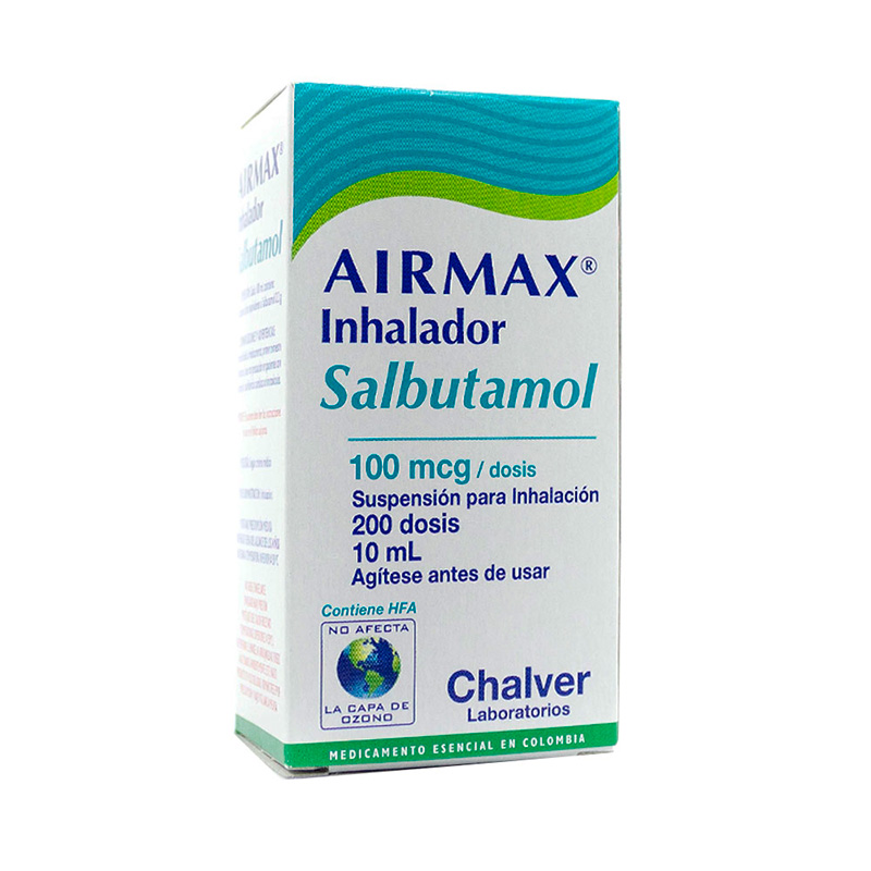 AIRMAX INHALADOR 100MCG-200DS. X 10ML.CH