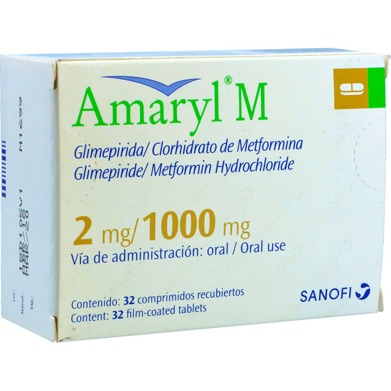 AMARYL M 2MG/1000MG X 32COMP.SN