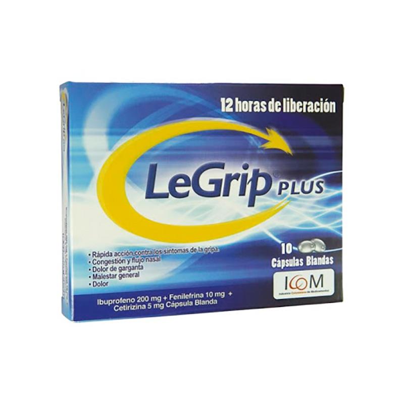 LEGRIP PLUS X 10CAP ICOM