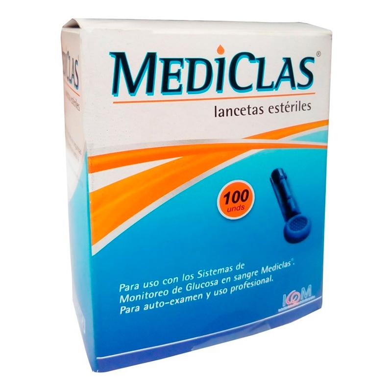 LANCETAS GLUCOMET.MEDICLAS 100UD IC(RF)