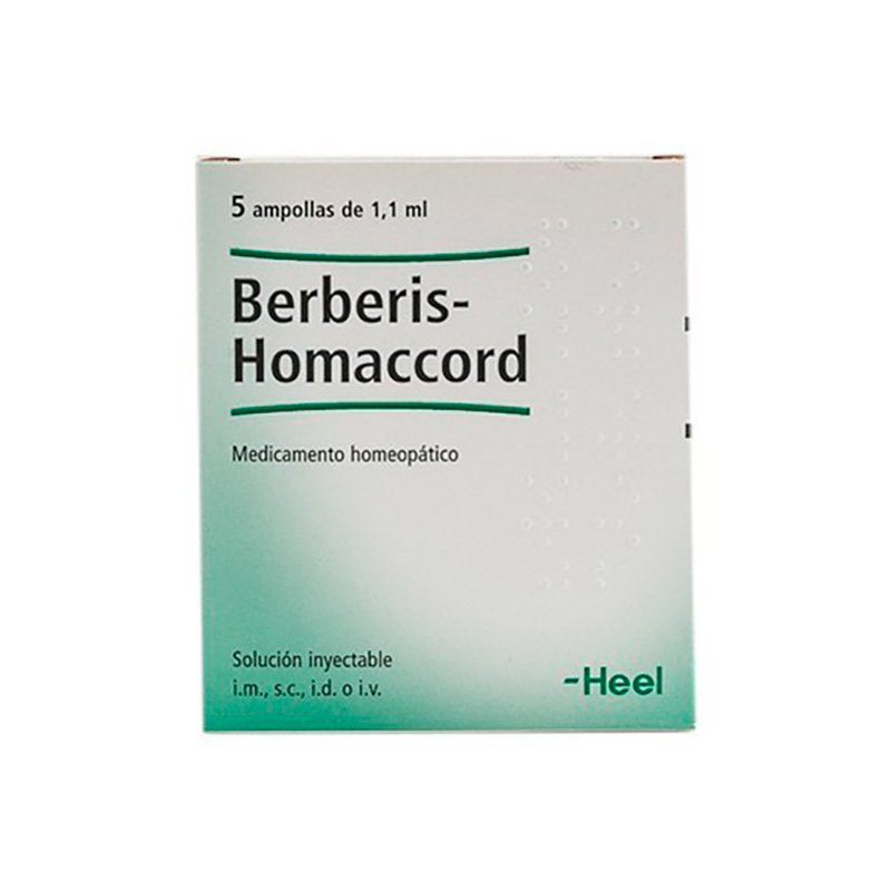 BERBEEL-HOMACCORD X 5AMPOLLAS 1.1ML.H