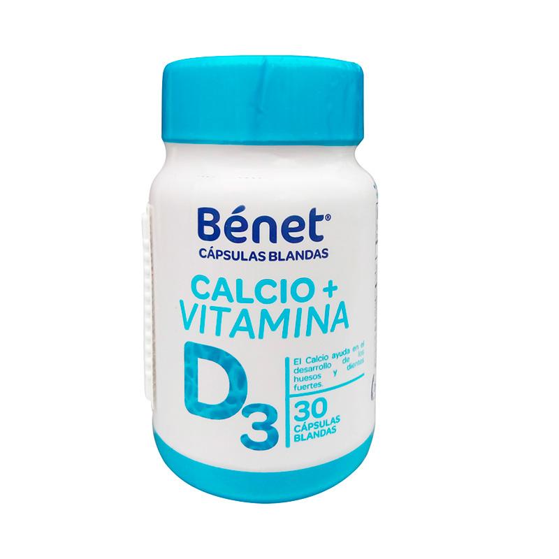 BENET CALCIO+VIT. D3 30 CAPSULAS BLANDAS