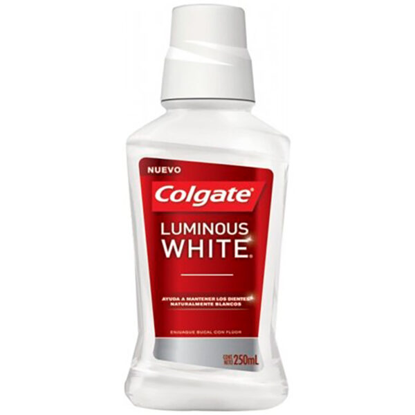 COLGATE LUMINOUS WHITE X 250ML CP
