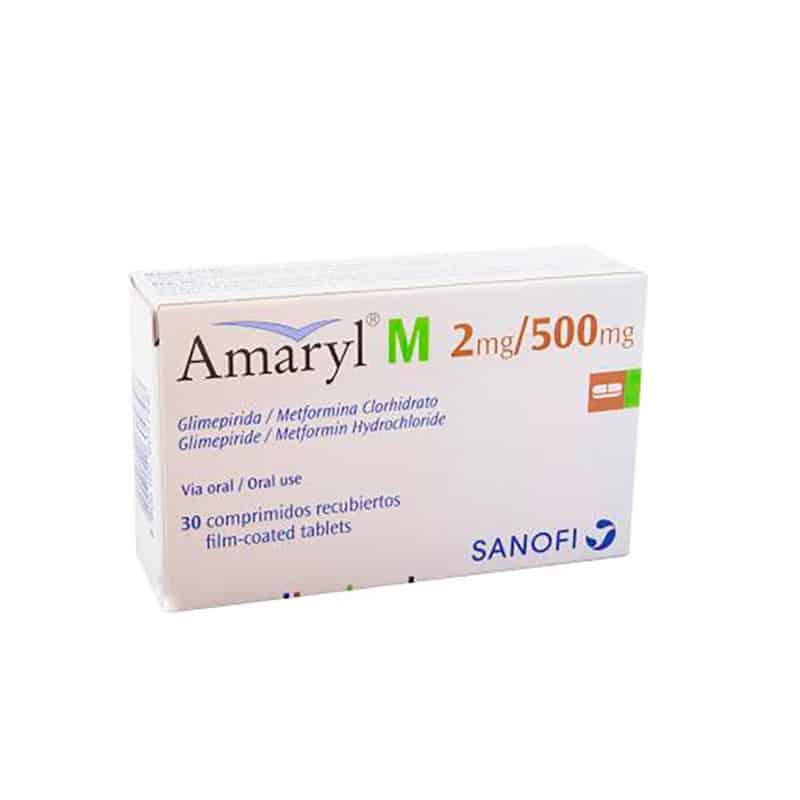 AMARYL M 2MG/500MG X 30COMP.SN